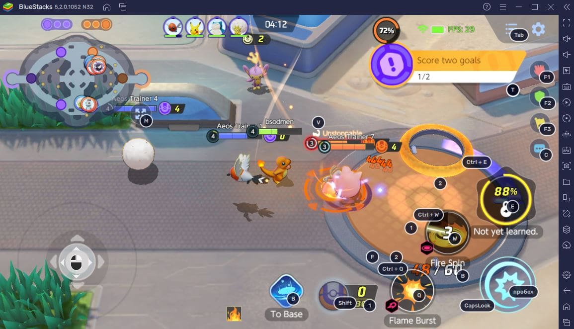 Pokemon UNITE на компьютере